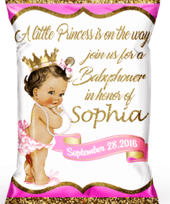 Personalized Royal Princess Chip Bags