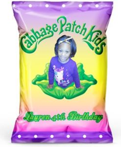 Personalized Cabbage Patch Kid Chip Bags