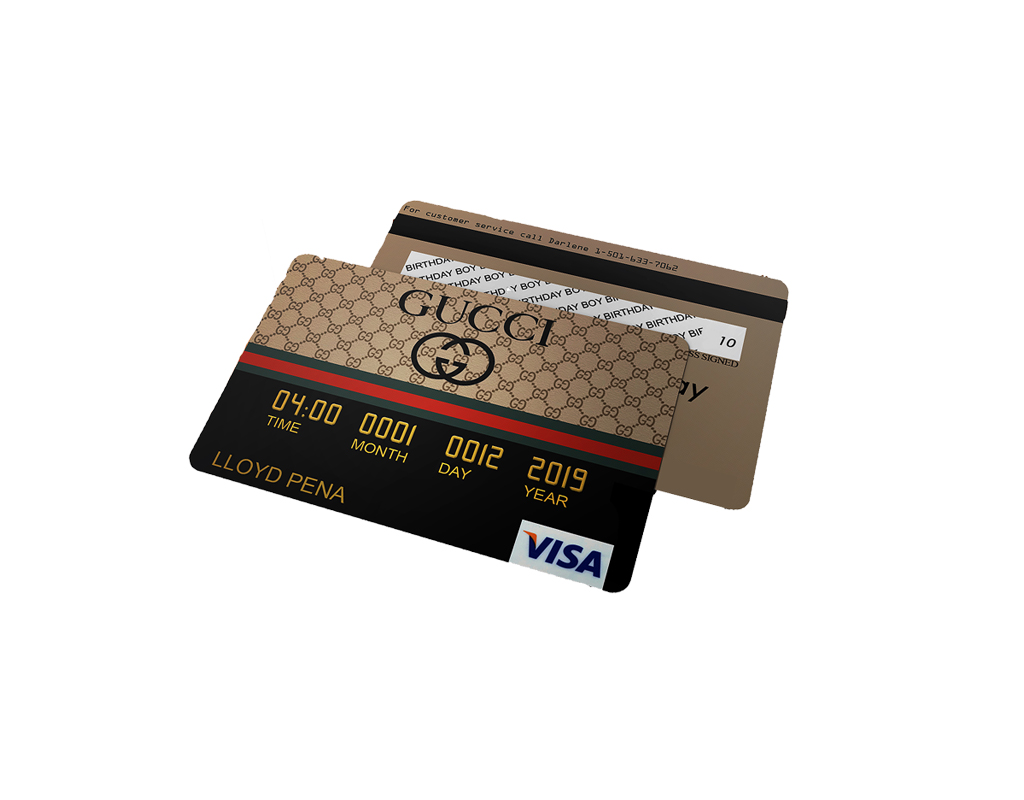 Gucci Credit Card Invitations, Gucci Birthday, Gucci Party