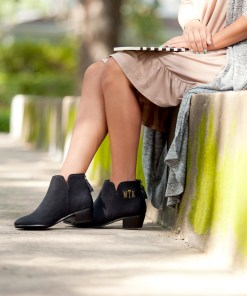 Monogram Black Hudson Short Boots
