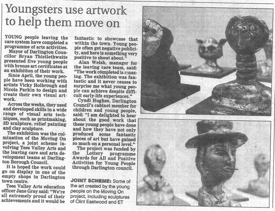 2010 - Northern Echo, Youngsters use artwork to help them move