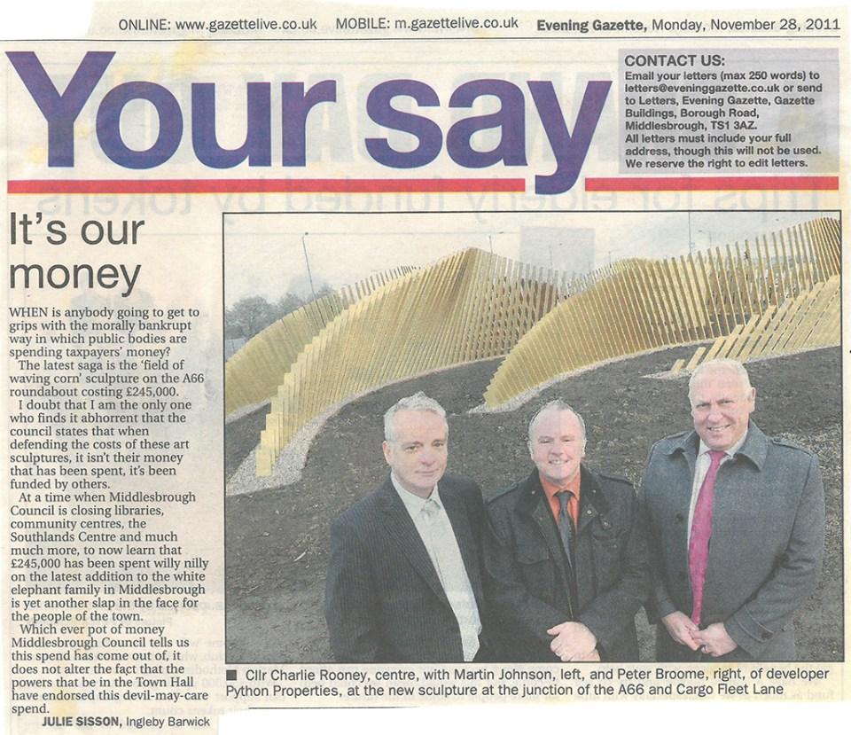 2011-11-28, Evening Gazette