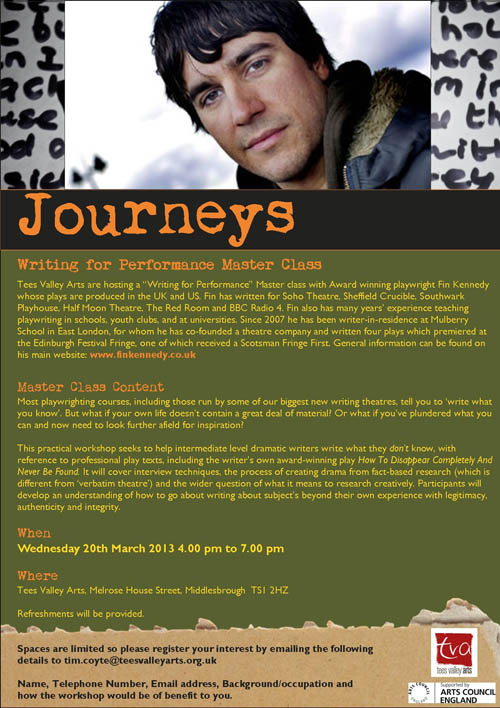 Writing for Performance Master Class