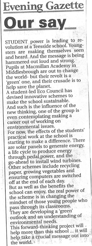 2008-07-29, Evening Gazette (1)