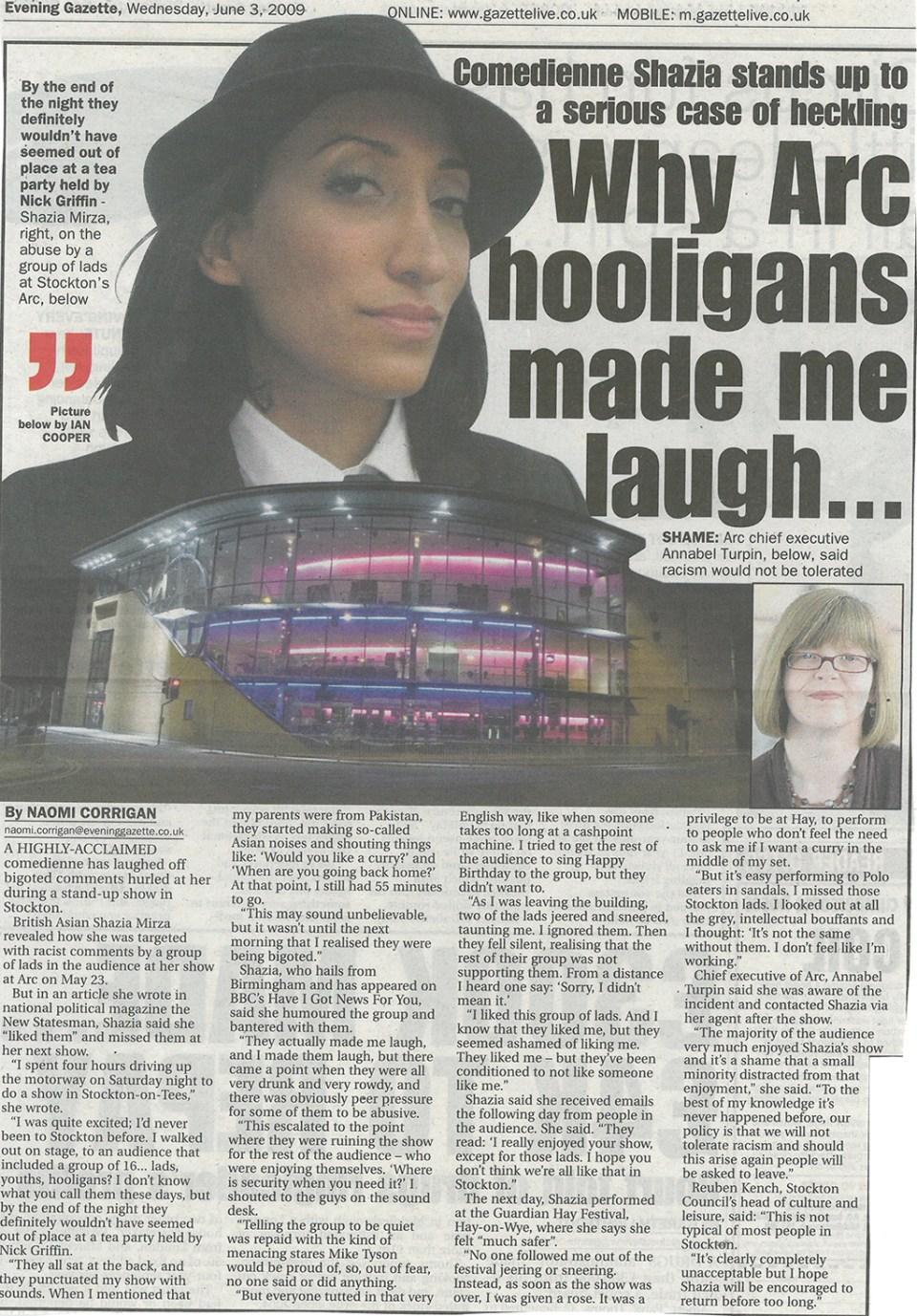 2009-06-03, Evening Gazette