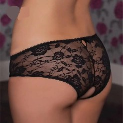 Lace See Through Open Crotch Panties
