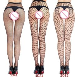 Hot Women's Open Crotch Mesh Fishnet Tights