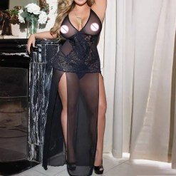 Womens Long Gown Lingerie
