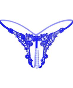 Crotchless Panites G-string Thong with Pearl