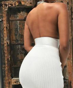 Halter Backless Club Dress Off Shoulder