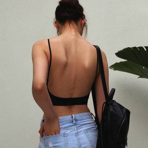 Lace Push Up Bralette Backless Strapless