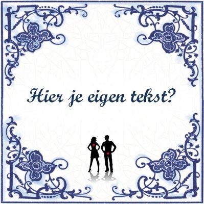 Delfts Blauw tegeltje (nr.23 liefde)
