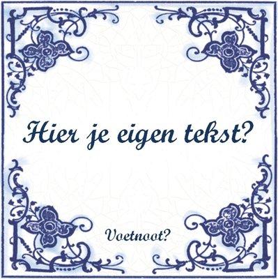 Delfts Blauw tegeltje (nr. 23)
