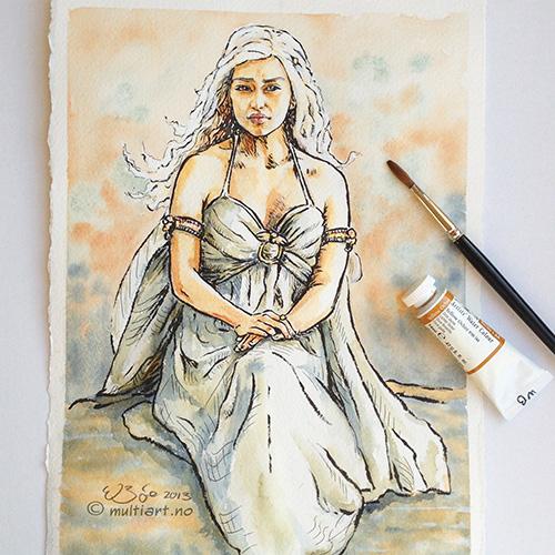 Sketch of Emilia Clarke