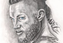 Drawing of Ragnar Lodbrok, Travis Fimmel