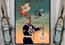 Stein Eriksen - plakat fra Norefjell OL 1952