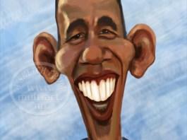 Barack Obama caricature