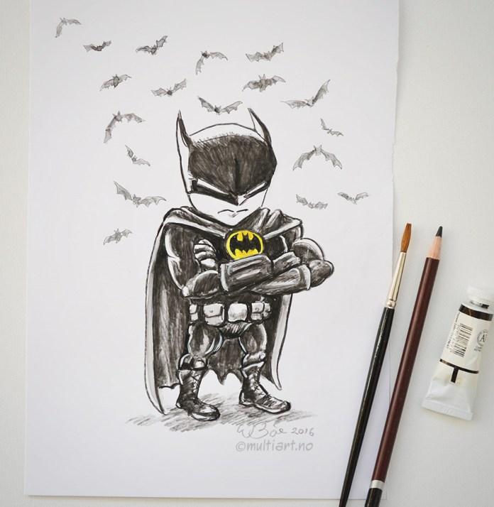 Tegning av Batman mini
