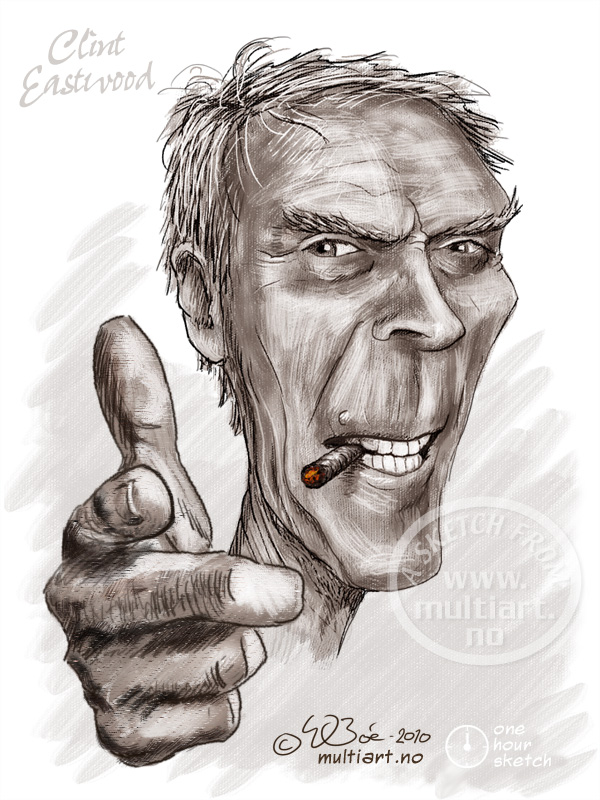 Clint Eastwood caricature