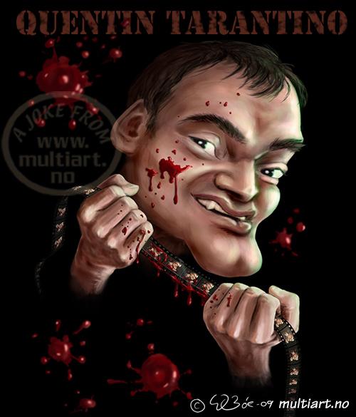 Quentin Tarantino caricature