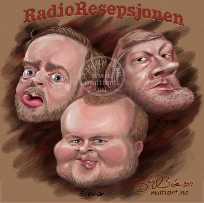 Karikatur av Radioresepsjonen