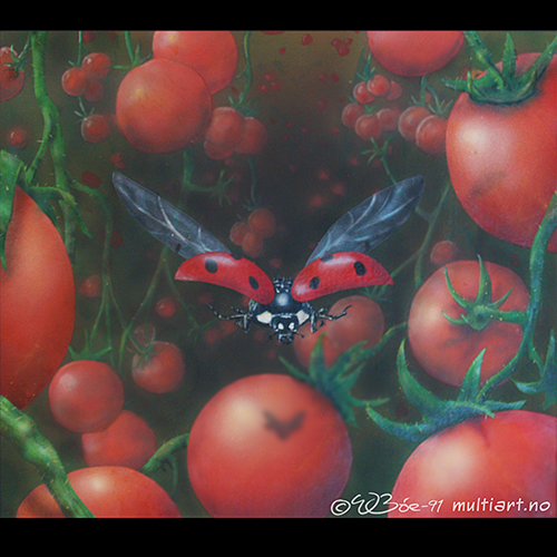 Tomato and ladybug