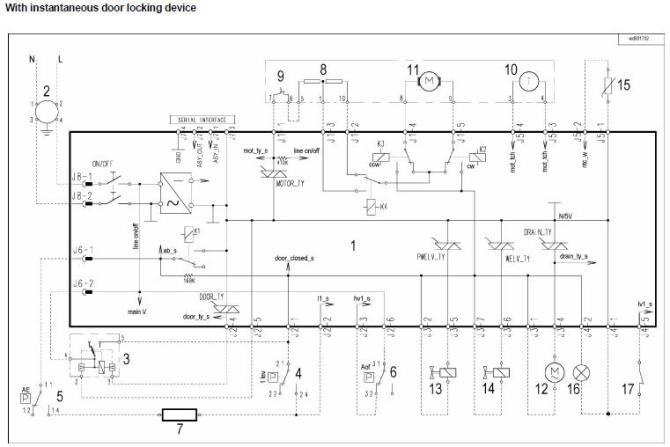 zanussielectrolux washing machine wiring diagram service