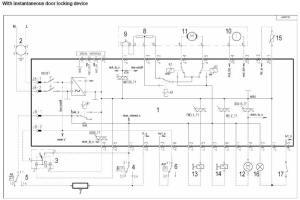 RexElectrolux washing machine wiring diagram service manual error code circuit schematic schema