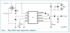 Dimmer for LED circuit diagram