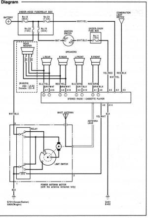 HONDA Car Radio Stereo Audio Wiring Diagram Autoradio