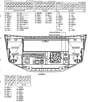 PIONEER Car Radio Stereo Audio Wiring Diagram Autoradio