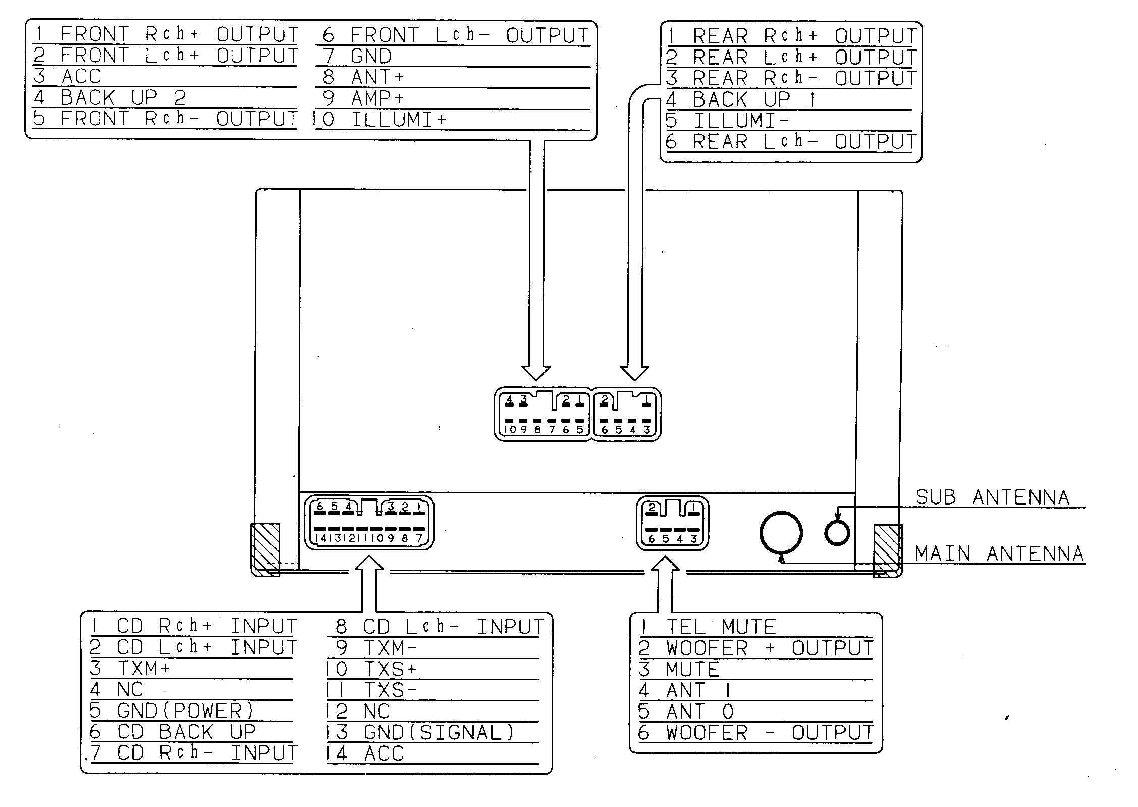 toyota car stereo wiring diagram toyota image fujitsu ten car audio wiring diagram jodebal com on toyota car stereo wiring diagram