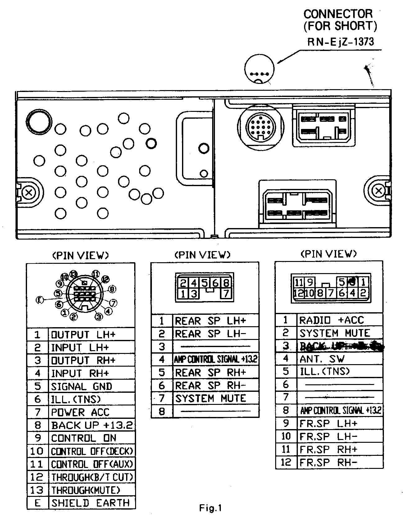 Obd1 Connector Pinout Diagram