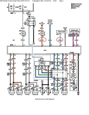 SUZUKI Car Radio Stereo Audio Wiring Diagram Autoradio