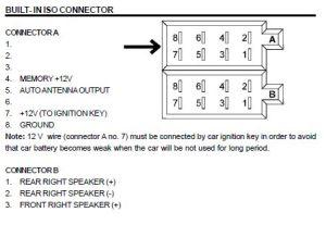 ROADSTAR Car Radio Stereo Audio Wiring Diagram Autoradio connector wire installation schematic