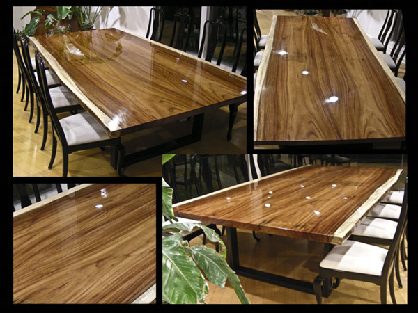 Round Dining Large Table Wood