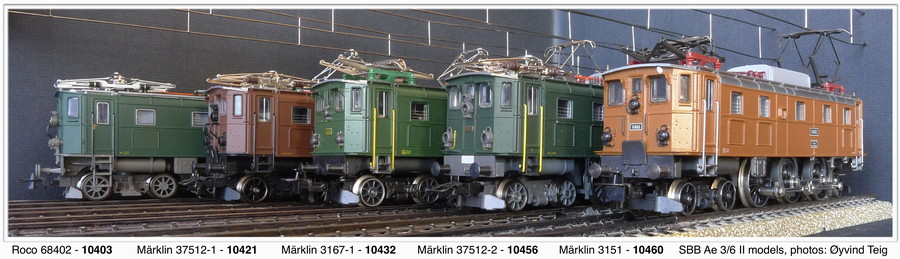 Roco and Märklin front and sides