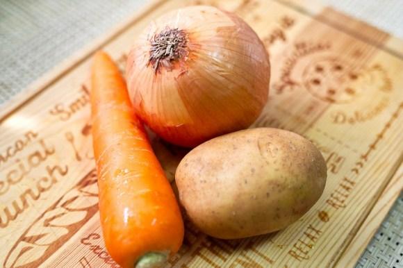 じゃがいもと人参と玉ねぎの基本野菜