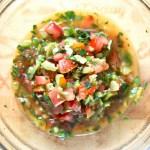 『サルサソース』肉魚グリル料理によく合うフレッシュなメキシカン・サルサソースの作り方・レシピ