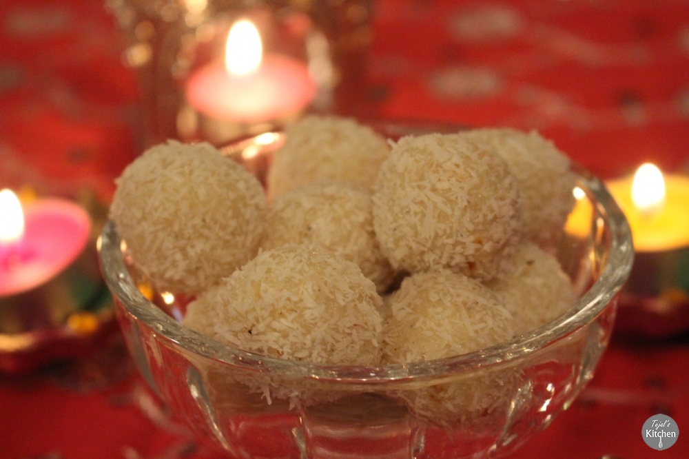 Coconut Ladoo Balls - Diwali Sweets
