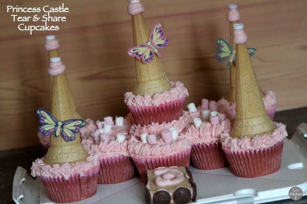 Princess Caste Tear and Share Cupcakes