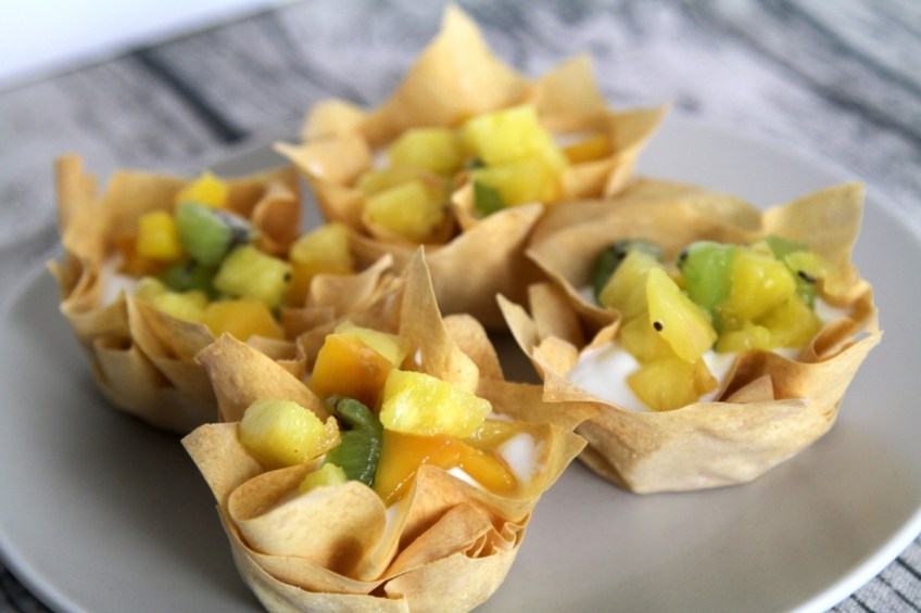 Low Calorie Fruity Filo Basket