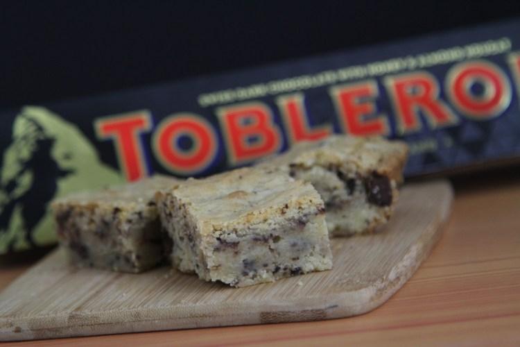 Toblerone Dark Chocolate Blondie