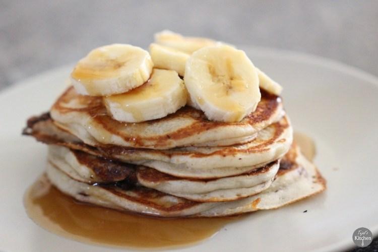 Eggless Choc Chip Pancakes