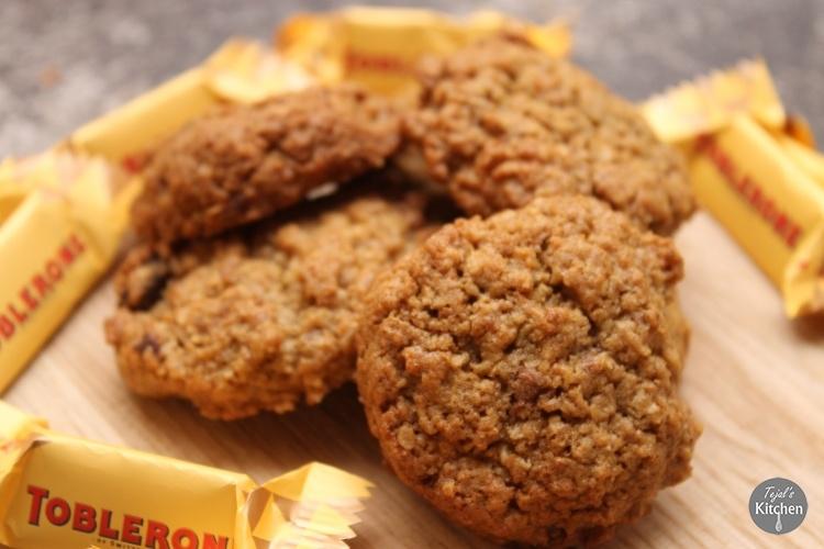 Toblerone Granola Cookies