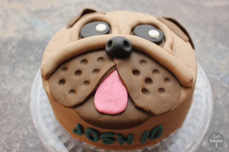 Pug Dog Cake Tejal S Kitchen