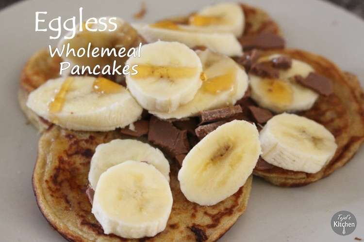 Eggless wholemeal pancakes