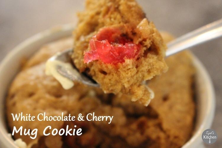 Mug Monday – White Chocolate & Cherry Mug Cookie