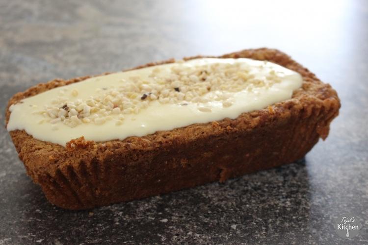 Eggless Carrot Cake