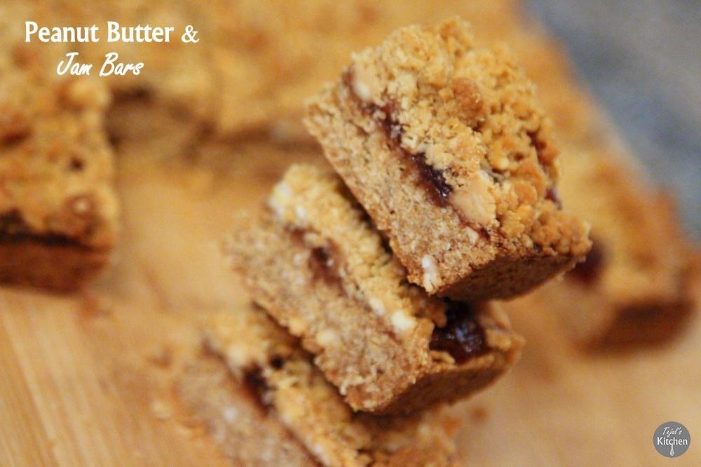 Peanut Butter & Jelly (Jam) Bars